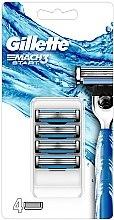 Духи, Парфюмерия, косметика Сменные кассеты для бритья - Gillette Mach3 Start Razor Blades