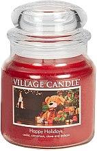 Духи, Парфюмерия, косметика Ароматическая свеча в банке - Village Candle Happy Holidays Glass Jar