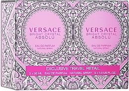 Духи, Парфюмерия, косметика Versace Bright Crystal Absolu - Набор (edp/2*30ml)