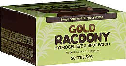 Духи, Парфюмерия, косметика Гидрогелевые патчи для кожи вокруг глаз с золотом - Secret Key Gold Racoony Hydrogel Eye Spot Patch