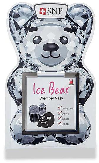 Маска для лица с углем - SNP Ice Bear Charcoal Mask — фото N1