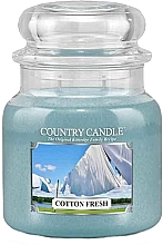 Духи, Парфюмерия, косметика Ароматическая свеча в банке - Country Candle Cotton Fresh