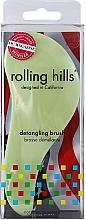 Духи, Парфюмерия, косметика Щётка для волос, светло-зелёная - Rolling Hills Detangling Brush Travel Size Light Green