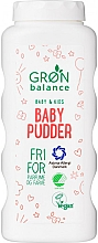 Духи, Парфюмерия, косметика Детская присыпка - Gron Balance Baby & Kids Baby Pudder
