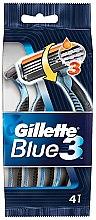 Духи, Парфюмерия, косметика Набор одноразовых станков для бритья, 4шт - Gillette Blue 3