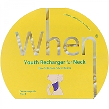 Духи, Парфюмерия, косметика Биоцеллюлозная антивозрастная маска для области шеи - When Youth Recharger For Neck Bio-Cellulose Mask