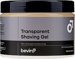 Духи, Парфюмерия, косметика Гель для бритья, прозрачный - Beviro Transparent Shaving Gel
