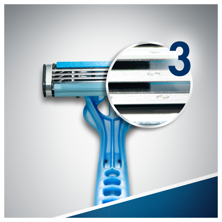 Набор одноразовых станков для бритья, 3шт - Gillette Blue 3 — фото N7