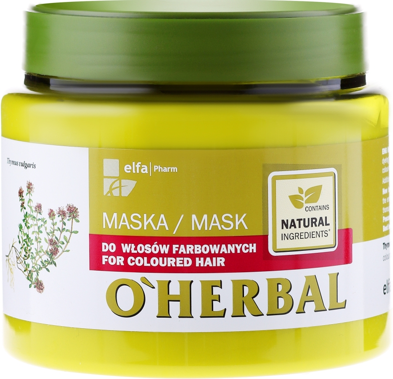 Маска для окрашенных волос с экстрактом чабреца - O'Herbal — фото N1