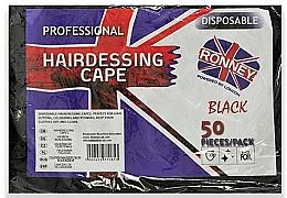 Духи, Парфюмерия, косметика Одноразовые парикмахерские накидки из черной фольги - Ronney Professional Hairdressing Cape