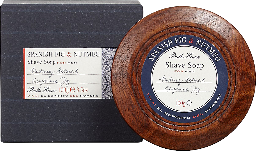 Bath House Spanish Fig and Nutmeg - Мыло для бритья — фото N1