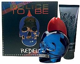 Духи, Парфюмерия, косметика Police To Be Rebel - Набор (edt/75ml + sh/gel/100ml)
