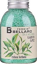"""Духи, Парфюмерия, косметика Смягчающие шарики для ванны """"Зеленый чай"""" - Fergio Bellaro Green Tea Bath Caviar"""