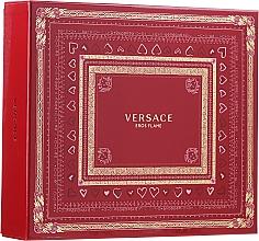 Духи, Парфюмерия, косметика Versace Eros Flame - Набор (edp 100 ml + sh/gel 150 ml + edp/10ml)