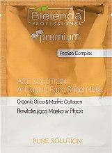 Духи, Парфюмерия, косметика Маска для лица антивозрастная - Bielenda Professional Premium Pure Solution Anti-aging Sheet Face Mask