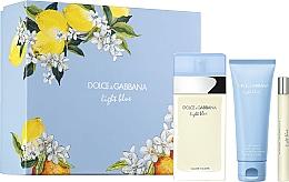 Духи, Парфюмерия, косметика Dolce&Gabbana Light Blue - Набор (edt/100ml + b/cr/75ml + edt/10ml)