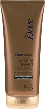 Духи, Парфюмерия, косметика Бронзирующий лосьон для тела - Dove Derma Spa Summer Revived Medium To Dark Skin Body Lotion