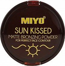 Духи, Парфюмерия, косметика Пудра бронзирующая - Miyo Sun Kissed Matt Bronzing Powder