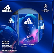 Духи, Парфюмерия, косметика Adidas UEFA Champions League Victory Edition - Набор (edt/100ml+sh/gel/250ml +deo/150ml)
