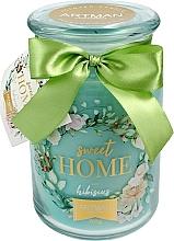 Духи, Парфюмерия, косметика Ароматическая свеча, 10х16 см., 700г. - Artman Sweet Home Hibiscus