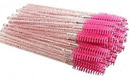 Духи, Парфюмерия, косметика Одноразовые щеточки для ресниц и бровей, ярко-розовые - Deni Carte