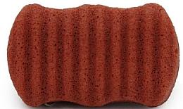 Духи, Парфюмерия, косметика Спонж для лица и тела с красной глиной - Bebevisa Konjac Sponge