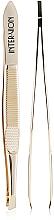 Духи, Парфюмерия, косметика Пинцет для бровей скошеный, 499925, золотистый - Inter-Vion