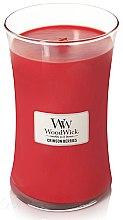 Духи, Парфюмерия, косметика Ароматическая свеча в стакане - WoodWick Hourglass Candle Crimson Berries