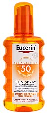Духи, Парфюмерия, косметика Солнцезащитный спрей для тела - Eucerin Sun Spray Transparent SPF 50