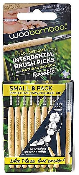 Набор мини-щеток, 8 шт. - Woobamboo Toothbrush Interdental Brush Picks Small — фото N1