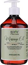 Духи, Парфюмерия, косметика Масло для массажа - Eco U Avocado Massage Oil