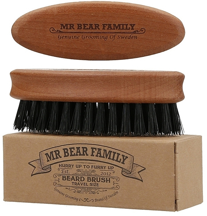 Щетка для бороды - Mr. Bear Family Beard Brush Travel Size — фото N2