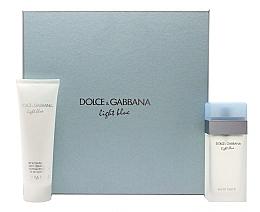 Духи, Парфюмерия, косметика Dolce & Gabbana Light Blue - Набор (edt/100ml + b/cr/100ml)