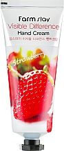 Духи, Парфюмерия, косметика Крем для рук с экстрактом клубники - FarmStay Visible Difference Hand Cream Strawberry