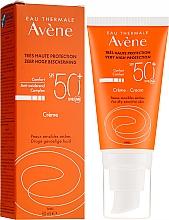 Духи, Парфюмерия, косметика Солнцезащитный крем для лица - Avene Eau Thermale Sun Cream SPF50