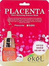 Духи, Парфюмерия, косметика Антивозрастная тканевая маска с плацентой - Ekel Placenta Ultra Hydrating Essence Mask