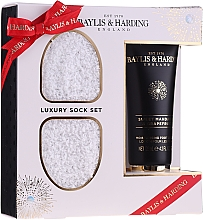 Духи, Парфюмерия, косметика Набор - Baylis & Harding Sweet Mandarin & Grapefruit Foot Set (f/cream/125ml + socks)