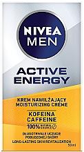 Духи, Парфюмерия, косметика Увлажняющий крем с кофеином для мужчин - Nivea Men Active Energy Caffeine Long-lasting Skin Revitalization