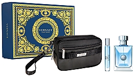 Духи, Парфюмерия, косметика Versace Pour Homme - Набор (edt/100ml + edt/mini/20ml + pouch)