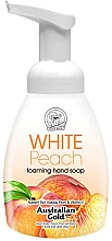 "Духи, Парфюмерия, косметика Мыло-пенка для рук ""Белый персик"" - Australian Gold Foaming Hand Soap White Peach"
