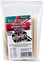 Духи, Парфюмерия, косметика Деревянные маникюрные палочки, 15 см - Ronney Professional