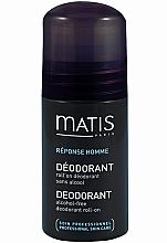 Духи, Парфюмерия, косметика Шариковый дезодорант без спирта - Matis Reponse Homme Alcohol Free Deodorant roll-on