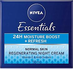 Духи, Парфюмерия, косметика Ночной крем для нормальной кожи - Nivea Essentials 24H Moisture Boost + Refresh Cream