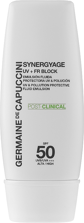 Эмульсия высокой защиты - Germaine de Capuccini Synergyage UV+FR Block Emulsion SPF50 — фото N1