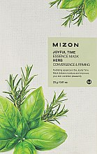 Духи, Парфюмерия, косметика Тканевая маска травяная - Mizon Joyful Time Essence Mask Herb