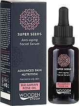 Духи, Парфюмерия, косметика Сыворотка для лица - Wooden Spoon Super Seeds Bulgarian Rose Oil Anti-aging Facial Serum