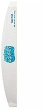 Духи, Парфюмерия, косметика Пилочка для ногтей, 100/180, белый, полумесяц - Ronney Professional Premium Half Moon Nail Files