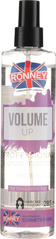 Спрей для увеличения объема для слабых и тонких волос - Ronney Volume Up Professional Express Treatment Leave-In — фото N1