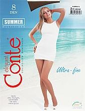 Духи, Парфюмерия, косметика Колготки для женщин «Summer» 8 Den, bronz - Conte