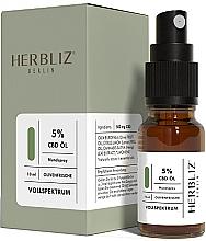 "Духи, Парфюмерия, косметика Масляный спрей для рта ""Оливка"" 5% - Herbliz CBD Olive Fresh Oil Mouth Spray 5%"